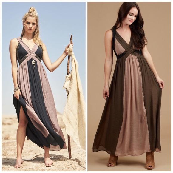 eb487ed0ce Altar d State Go Grecian Goddess Maxi Dress Boho